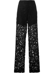 Msgm Lace Sheer Trousers Black