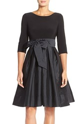 Women's Adrianna Papell Bow Taffeta Fit And Flare Dress