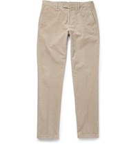 Nn.07 Nn07 Soho Tapered Stretch Cotton Corduroy Trousers Beige