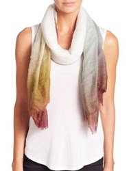 Tilo Gradation Baby Wool Scarf Olive Berry