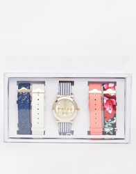 Aldo Rampart Multi Strap Stripe Watch Multicoloured
