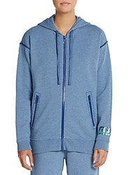Marc By Marc Jacobs Dropped Shoulder Hoodie Century Blue