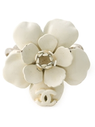 Chanel Flower Ring Metallic
