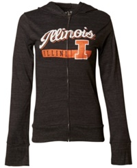 Blue 84 Women's Illinois Fighting Illini Script Full Zip Hoodie Black