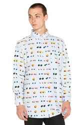 Lazy Oaf Medicated Button Down Baby Blue