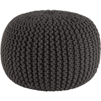 Knitted Graphite Pouf In Poufs Cb2