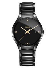 Rado True Diamonds And High Tech Ceramic Bracelet Automatic Watch Black