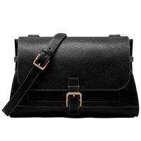 Mulberry Small Buckle Leather Satchel Black
