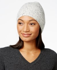 Charter Club Cashmere Donegal Knit Hat Only At Macy's Heather Crystal Combo