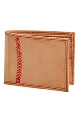 Rawlings Sports Accessories Baseball Stitch Wallet Tan
