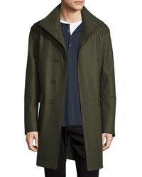 Vince Raw Edge Military Coat Green