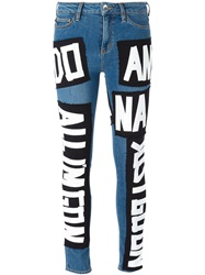Love Moschino Patch Skinny Jeans Blue