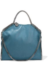 Stella Mccartney The Falabella Medium Faux Brushed Leather Shoulder Bag Teal