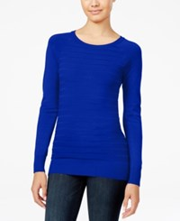 Energie Juniors' Willow Textured Stripe Sweater Inky Blue