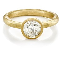 Malcolm Betts Women's Round Faced Ring Gold
