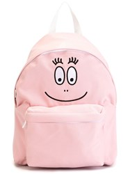 Joshua Sanders Face Embroidered Backpack Pink And Purple