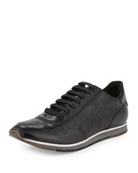 Kenneth Cole Bid On Me Camouflage Embossed Leather Sneaker Black