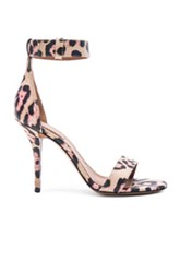 Givenchy Retra Jaguar Print Leather Heels In Animal Print Pink Neutrals