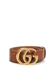 Gucci Embossed Gg Leather Belt Tan