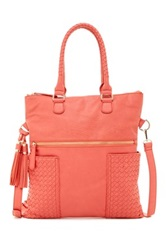 Urban Expressions Ava Woven Convertible Messenger Orange