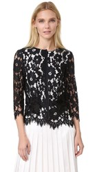 Marc Jacobs Floral Lace Top Black