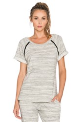 Beyond Yoga Spacedye Terry Raglan Gray