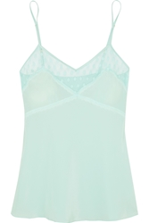 Mimi Holliday Hummingbird Polka Dot Tulle Trimmed Silk Camisole