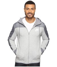 Nike Nsw Av15 Hoodie Full Zip Ssnl Dark Grey Heather Cool Grey White Men's Sweatshirt Gray