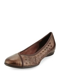 Sesto Meucci Aura Lasercut Leather Flat T Moro