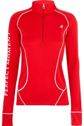 Perfect Moment Jersey Ski Top Red