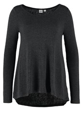Gap Long Sleeved Top Charcoal Heather Mottled Dark Grey