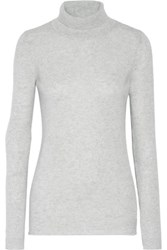 Duffy Cashmere Turtleneck Sweater Stone