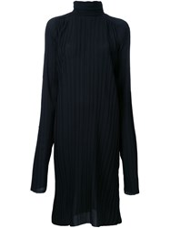 Strateas Carlucci Pleated Funnel Neck Tunic Black