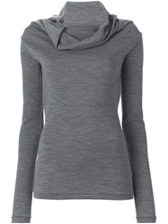 Joseph Cowl Neck Sweater Grey