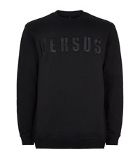 Versus By Versace Versus Versace Embroidered Logo Sweater Male Black