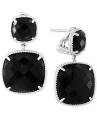 Effy Collection Effy Onyx 17 2 5 Ct. T.W. Drop Earrings In Sterling Silver
