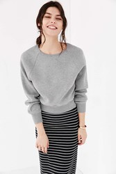 Bdg Double Knit Raglan Pullover Sweatshirt Grey