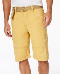 American Rag Belted Relaxed Cargo Shorts Gold Curry
