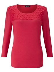 Gerry Weber 3 4 Sleeve Jersey Top Hibiscus