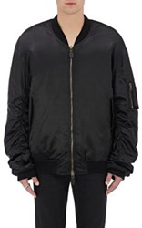 Faith Connexion Men's Nylon Oversized Bomber Jacket Black