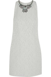 Matthew Williamson Embellished Cotton Blend Jacquard Dress