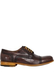 Ve.Ni. Shoes Washed Leather Brogue Derby