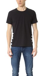 Splendid Mills Printed Stripe Active Tee Black