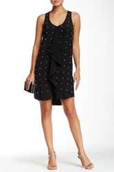 Madison Marcus Studded Silk Dress Black