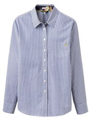 Joules Lucie Semi Fitted Stripe Shirt Soft Navy Stripe