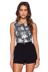 L'agence Open Back Crop Top Navy