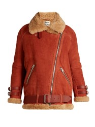 Acne Studios Velocite Shearling Jacket Tan