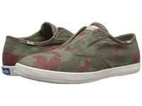 Keds Champion Chillax Washed Twill Camo Green Men's Slip On Shoes Multi
