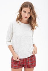Forever 21 Boxy Marled Knit Sweater