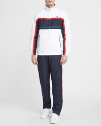 Lacoste White Red Blue Tracksuit And Navy Trousers With Red Trim